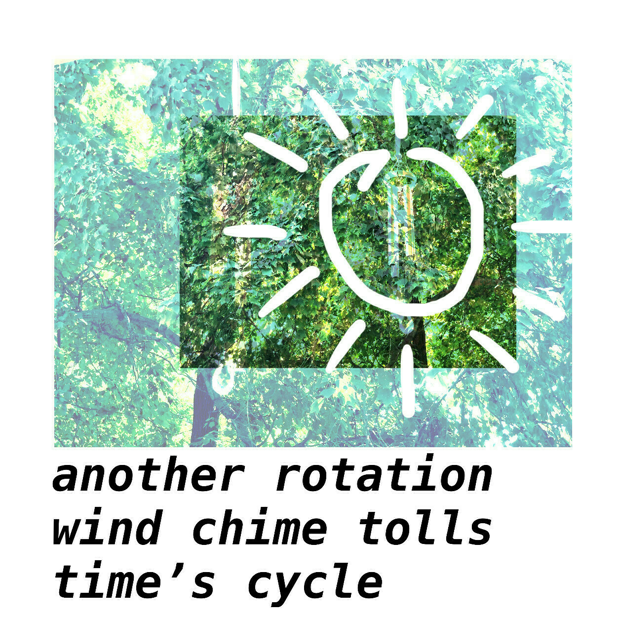 another rotation wind chime tolls time's cycle