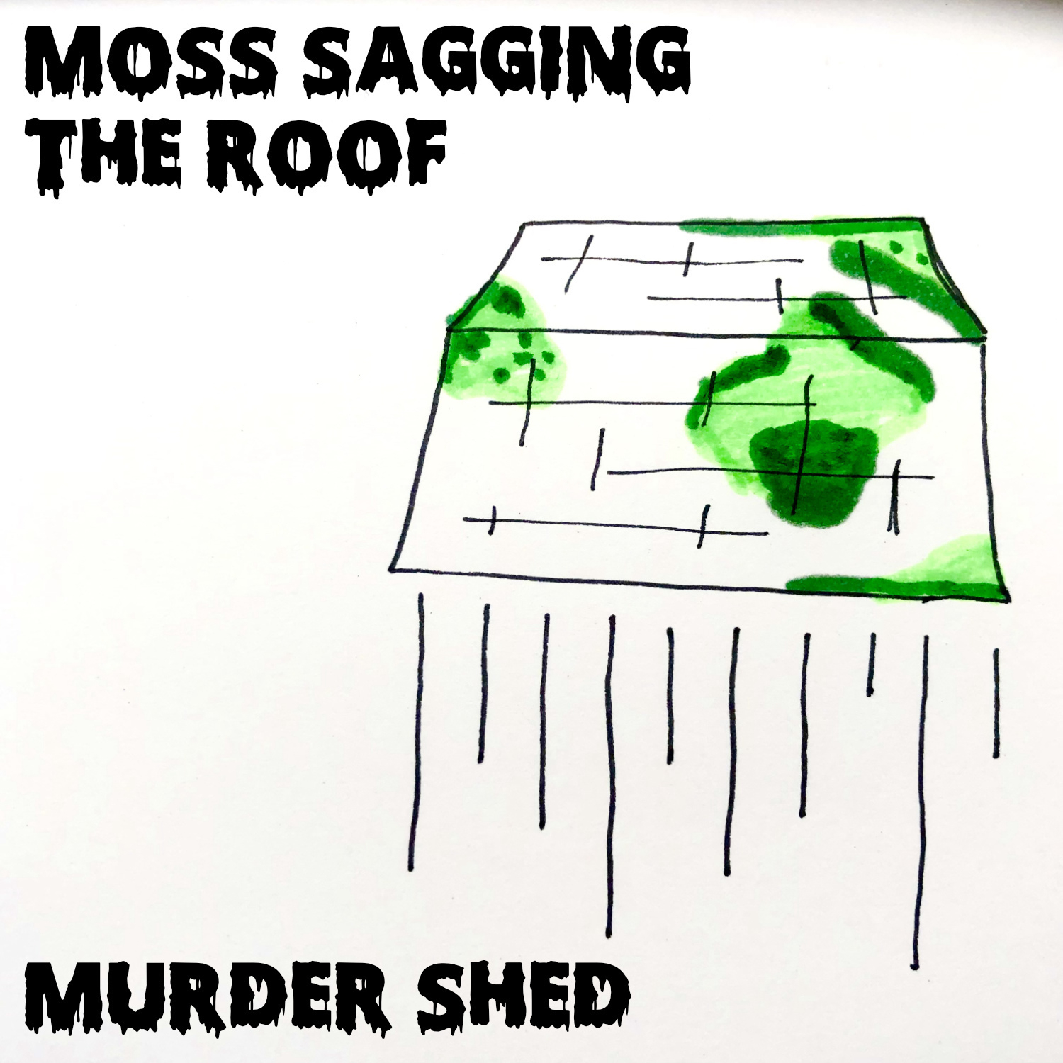 moss sagging the roof murder shed